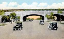 brighton beach line arch over ocean parkway, brooklyn